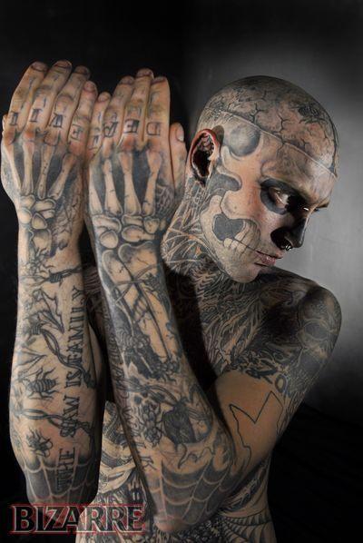 Tatuaje Calavera Johnny Depp tatuaje extremo: el hombre calavera | tatuajes | pinterest