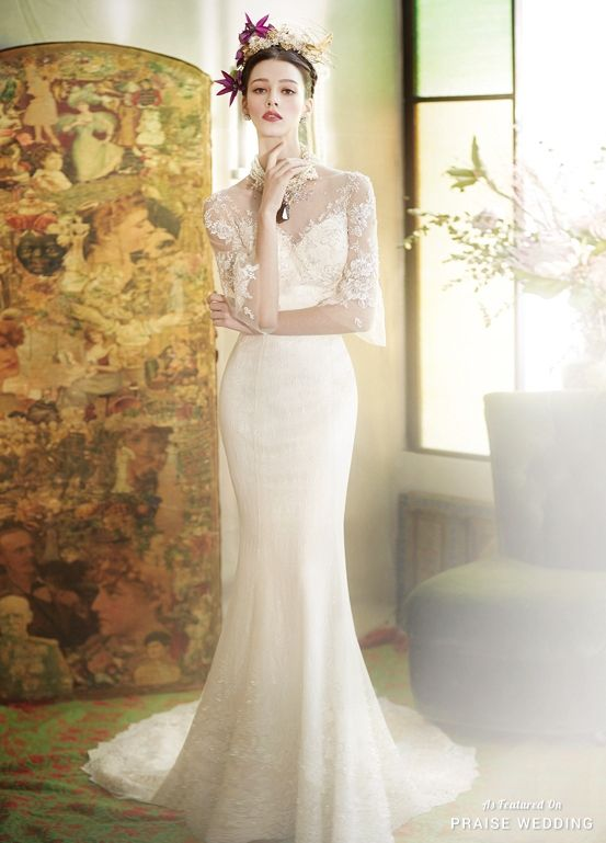 This Graceful Wedding Dress From Eileen Couture Is Imbued With A Touch Of Vintage Glamour Praise Community
