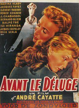 AVANT LE DELUGE   Affiche cinéma, Cinéma français, Actrice