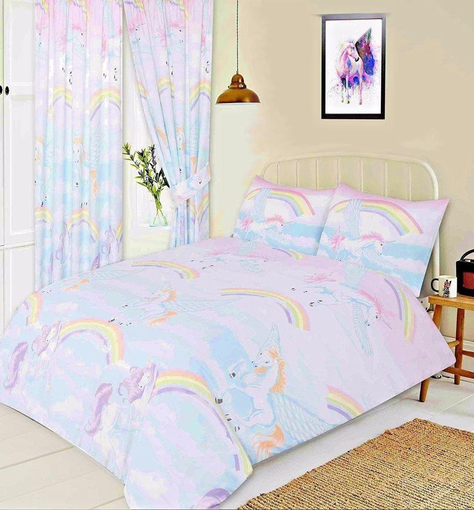 Children Duvet Cover Set Kid Unicorn Bedding New Single Double Size Luxury Quilt
