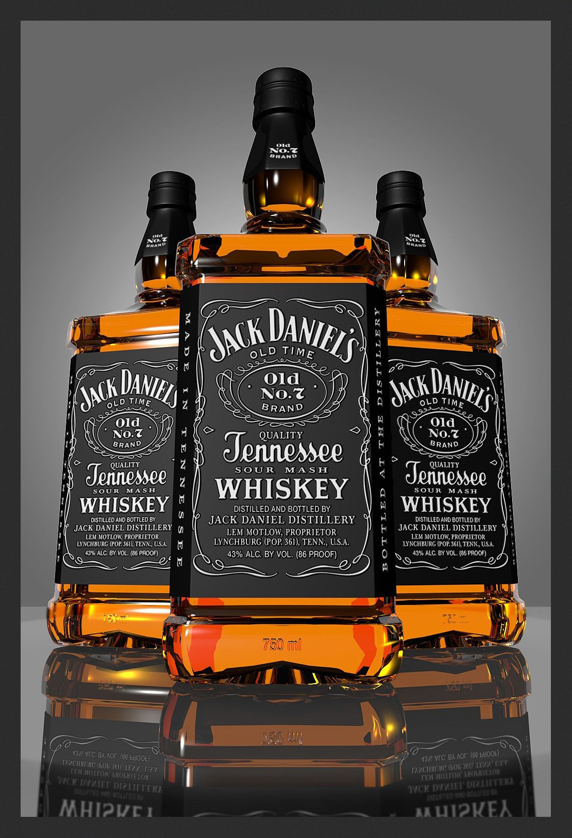Jack Daniels Bottle by onka3d. / You can buy this 3D model