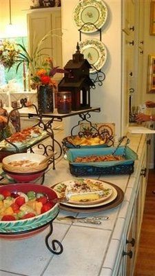 Saturdays With Southern Living at HOME - Beautiful Buffet   southern fried gal
