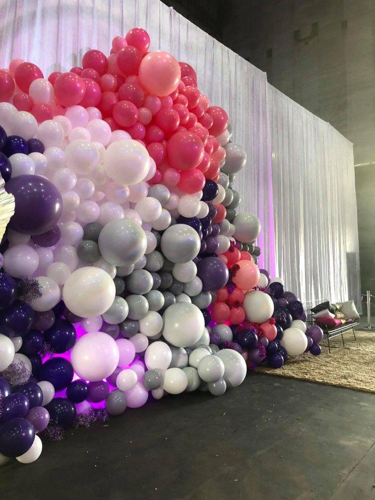 Gigantic 5 x 4m organic balloon wall www.balloons.net.au ...