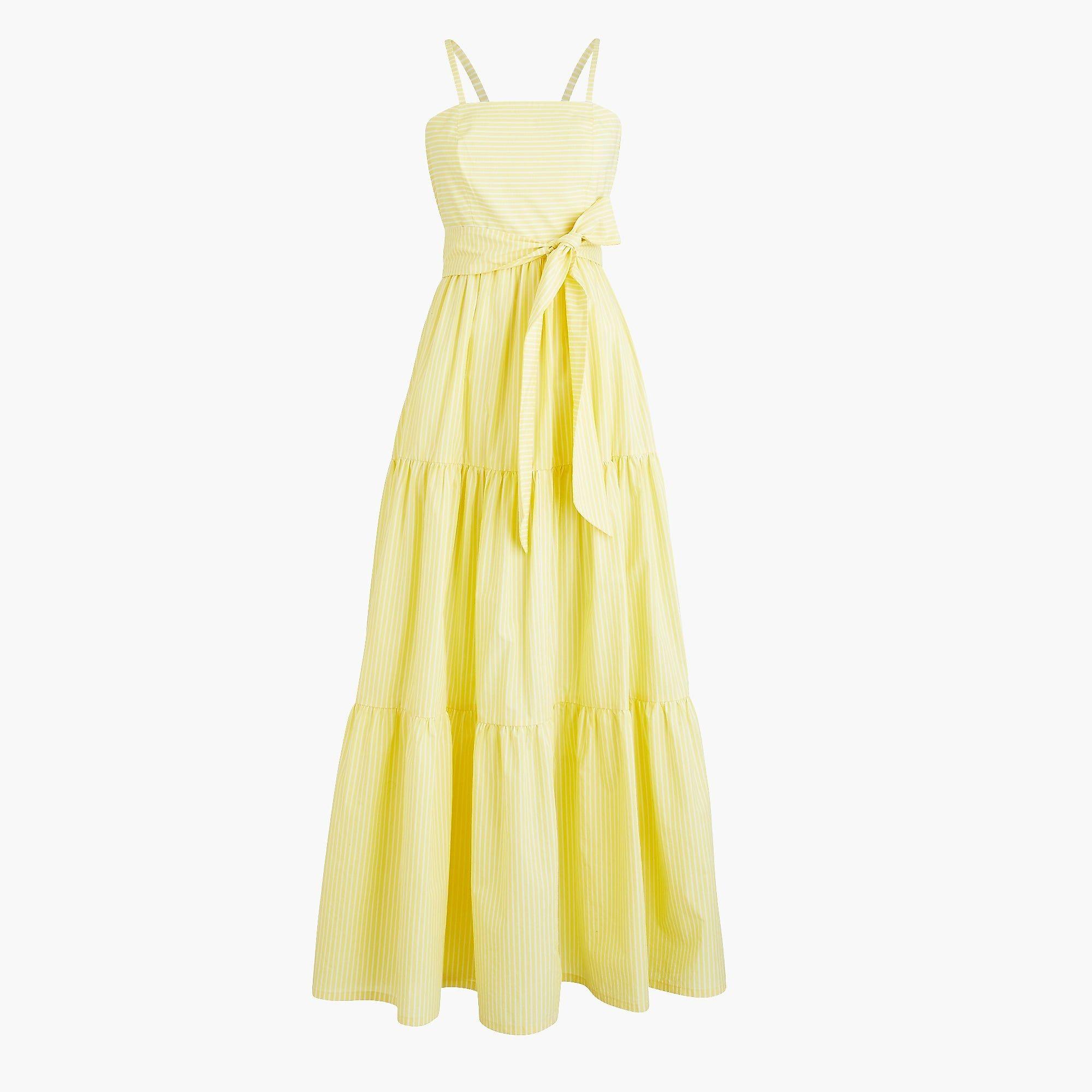 8f5dd40c5 J.Crew - Tiered maxi dress in stripe | My Style | Dresses, Summer ...