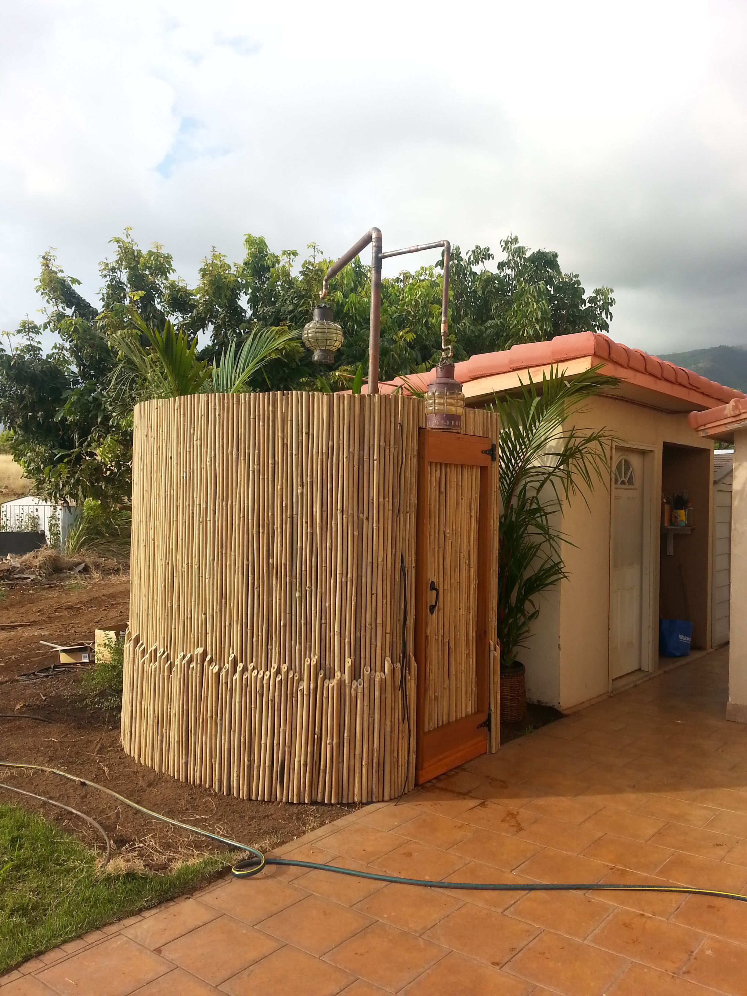 Bamboo Outdoor Shower Enclosures Bamboo Outdoor Shower Bamboo Outdoor Showers