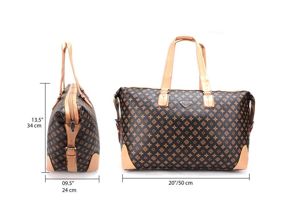 Las Womens Designer Style Tote Cabin Luggage Weekend Bag