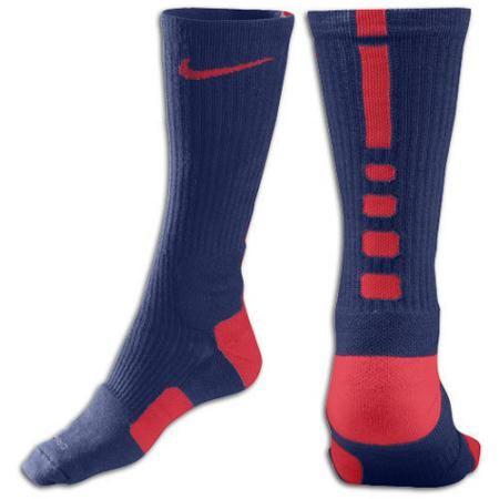 9df29131409 Nike Elite Basketball Crew Sock - Mens - College Navy University Red ...