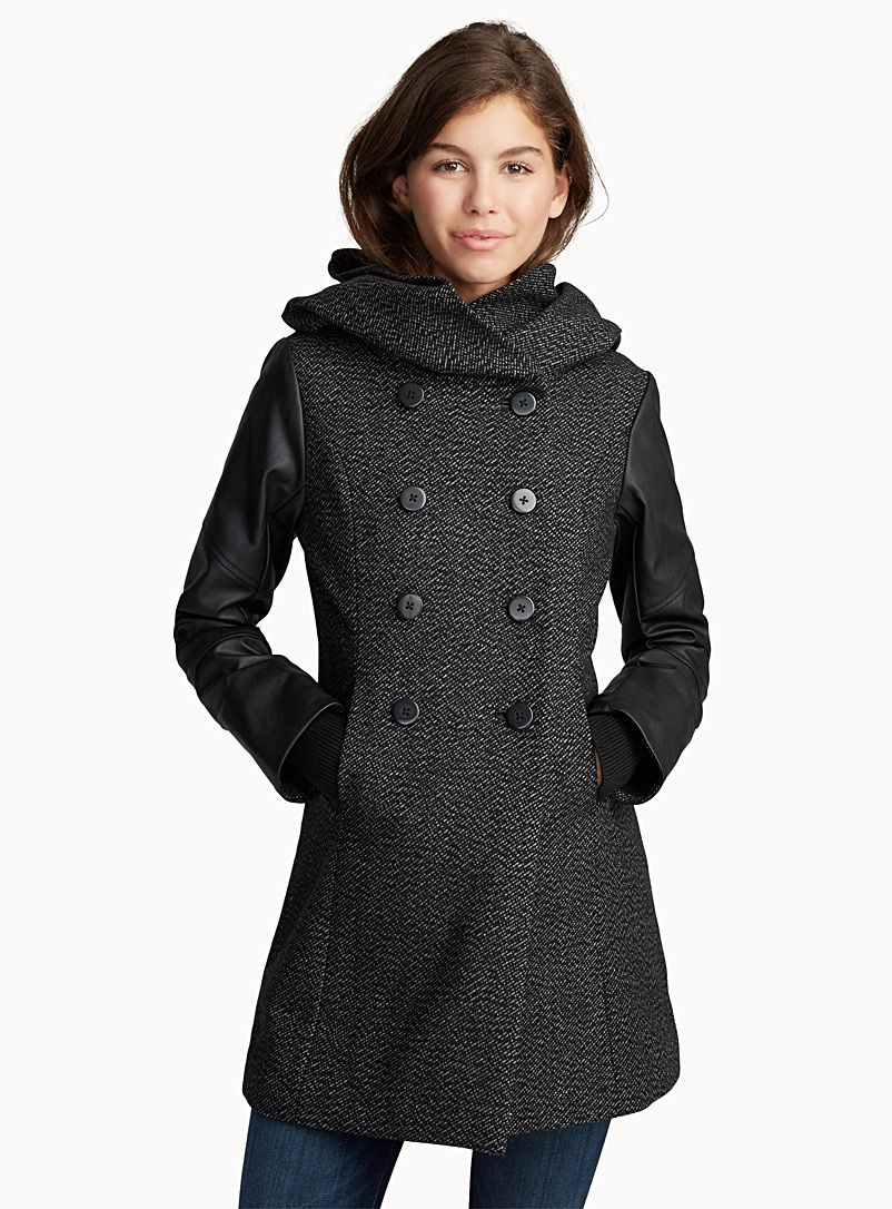 204dbc553b2d Cozy hood ¾ coat