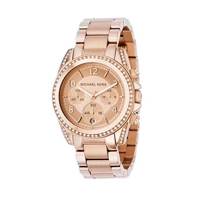 Blair Rose Gold-Tone Stainless Steel Chronograph Watch