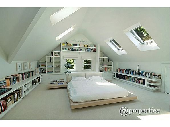Awesome attic bedroom!!!  Interior  Pinterest  집, 로프트 및 꿈의 집