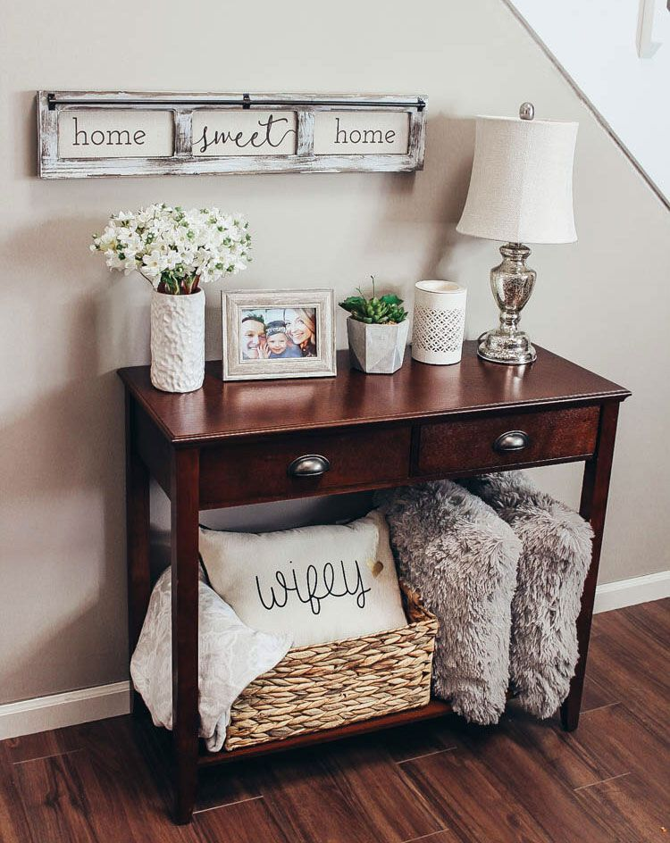 Entry Table Decorating Ideas Pinterest