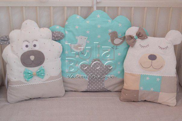 Бортики в кроватку, буквы подушки, LulaBooo (с ...
