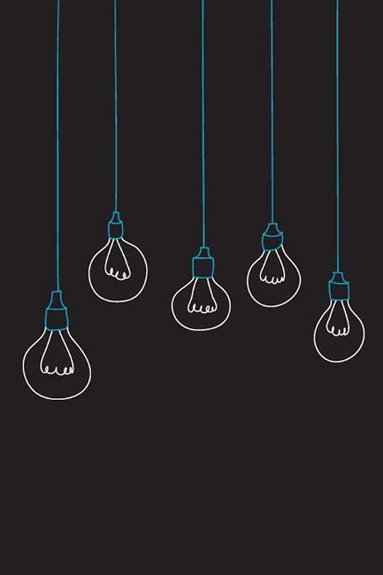 Light Bulb Iphone Dark Wallpaper Black Wallpaper Iphone Black