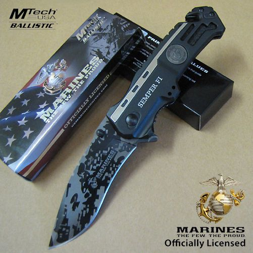 USMC Marines Leatherneck SPRING Assisted Folding KNIFE