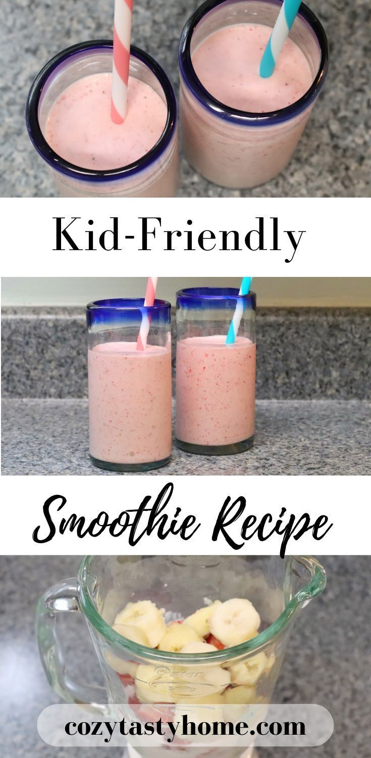 Here's my recipe for a delicious homemade strawberry banana smoothie you and your kids are sure to love! cozytastyhome.com #smoothie #smoothierecipe #strawberrybananasmoothie #breakfastideas #breakfastrecipe #kidfriendlymeals #kidfriendlymealideas #strawberrybananasmoothie Here's my recipe for a delicious homemade strawberry banana smoothie you and your kids are sure to love! cozytastyhome.com #smoothie #smoothierecipe #strawberrybananasmoothie #breakfastideas #breakfastrecipe #kidfriendlymeals #strawberrybananasmoothie