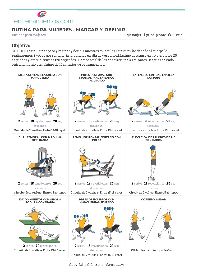 Rutinas para gimnasio para bajar de peso
