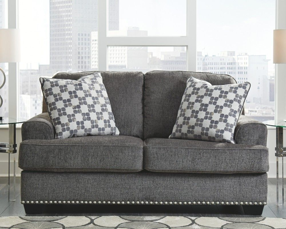 Locklin Carbon Loveseat Love Seat Deep Seating Fine Furniture