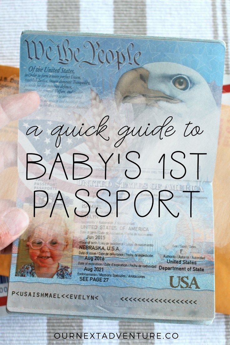 A Quick Guide To Baby's First Passport How To Get A Passport For