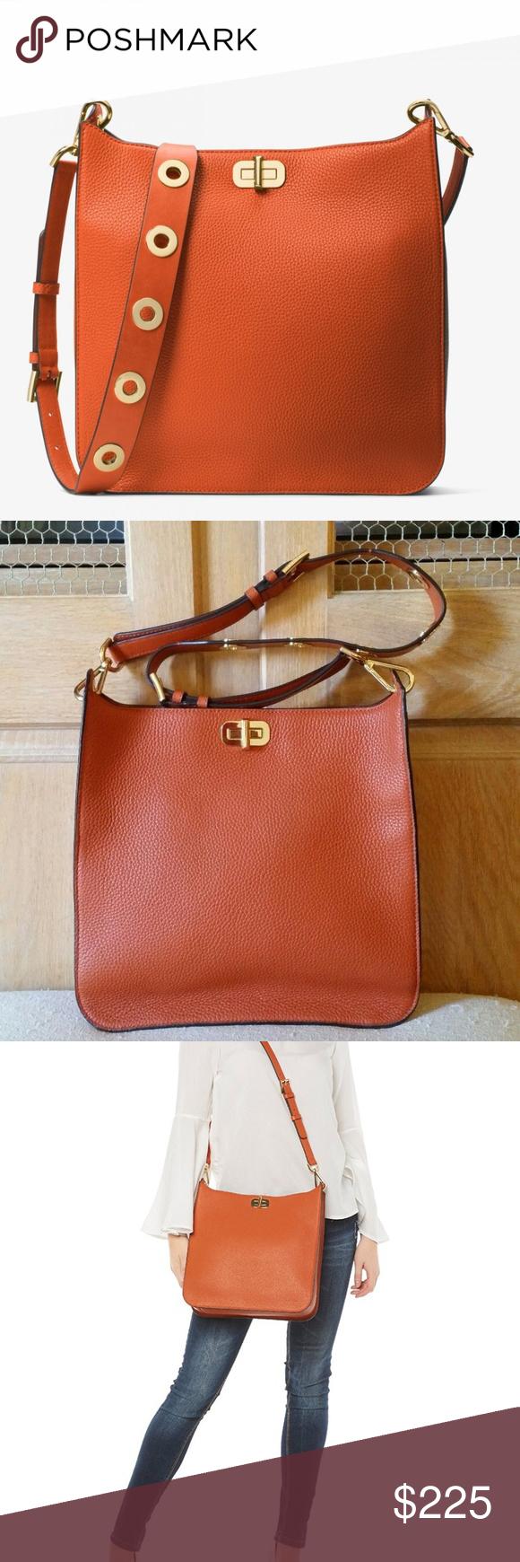 50bbee254363 Spotted while shopping on Poshmark  MICHAEL KORS Sullivan Large Messenger  Bag Orange!  poshmark  fashion  shopping  style  MICHAEL Michael Kors   Handbags