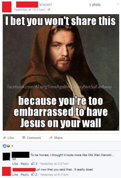 Obi Wan Jesus Meme : jesus, Jesus