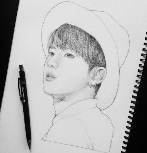 Jin || Fanart | Bts drawings, Hope drawing, Diy art painting