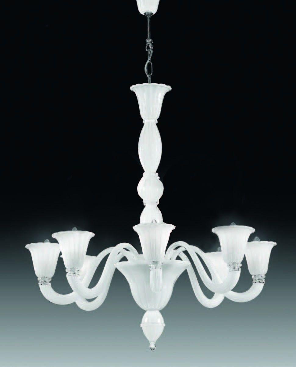 Cristalstrass canada laguna 8 lights murano chandelier white murano collections cristalstrass canada
