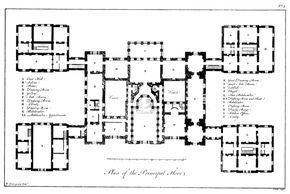 Plan Of Holkham Hall England How To Plan Architectural Floor Plans Hall Flooring