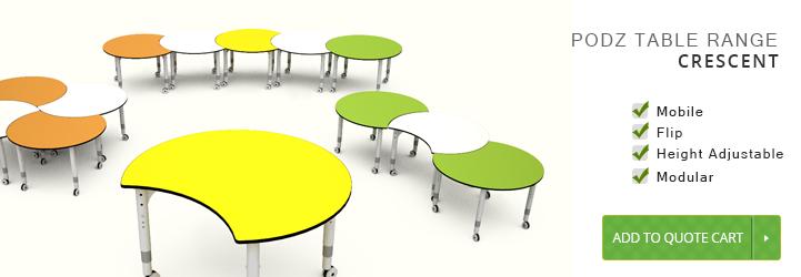 Podz Crescent Series Podz Tables Classroom Tables Melbourne