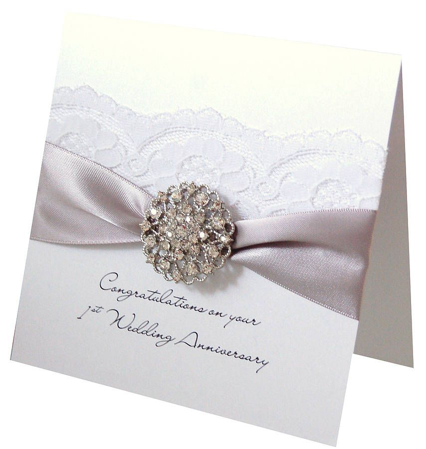 Opulence Silver Wedding Anniversary Card For 25th Anniversaries Can Be Personalised Too