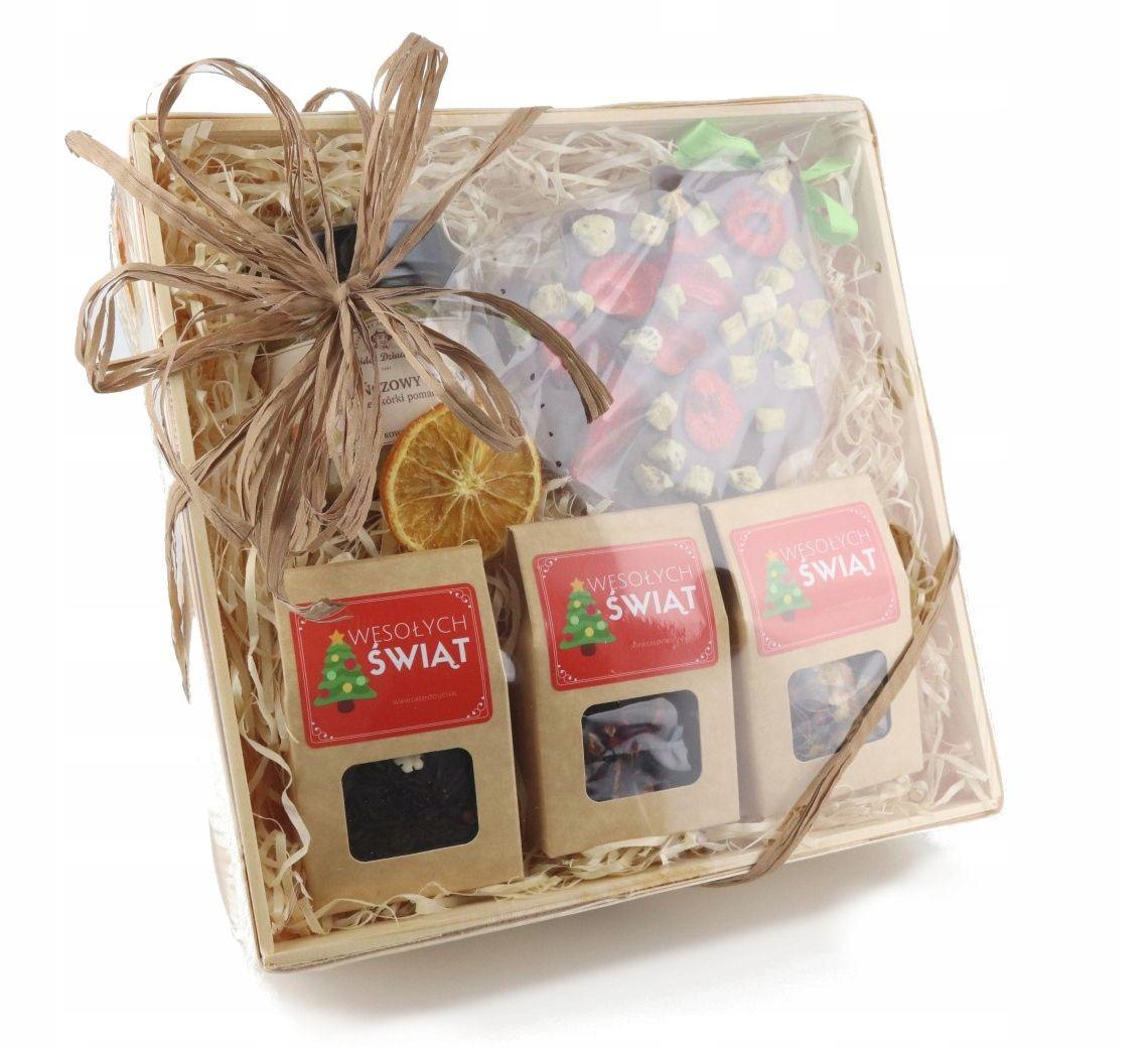 Kosz Prezentowy Z Herbata I Czekolada Prezent Gifts Gift Wrapping Wrap