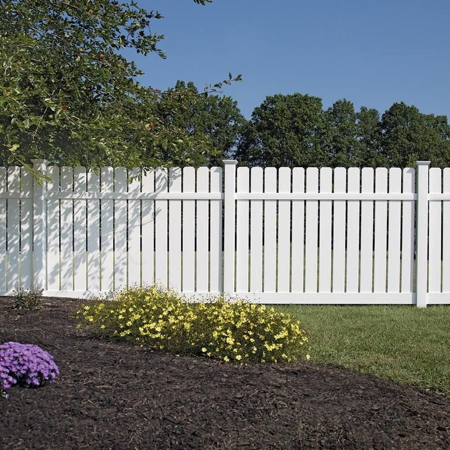 Freedom Actual 6 06 Ft X 8 Ft Ready To Assemble Waverly White Vinyl Dog Ear Vinyl Fence Panel Lowes Com In 2020 Vinyl Fence Panels Vinyl Fence Fence Options
