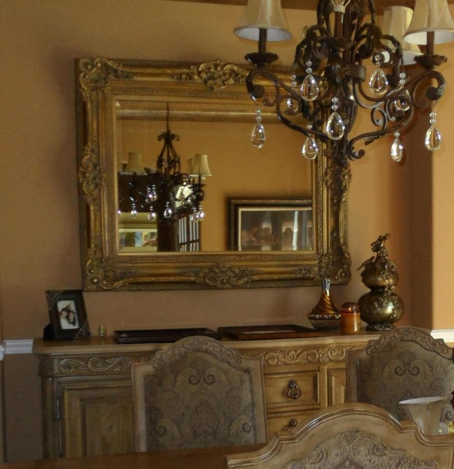 Dining Room Sideboards And Buffets: Dining Room Buffet With Mirror
