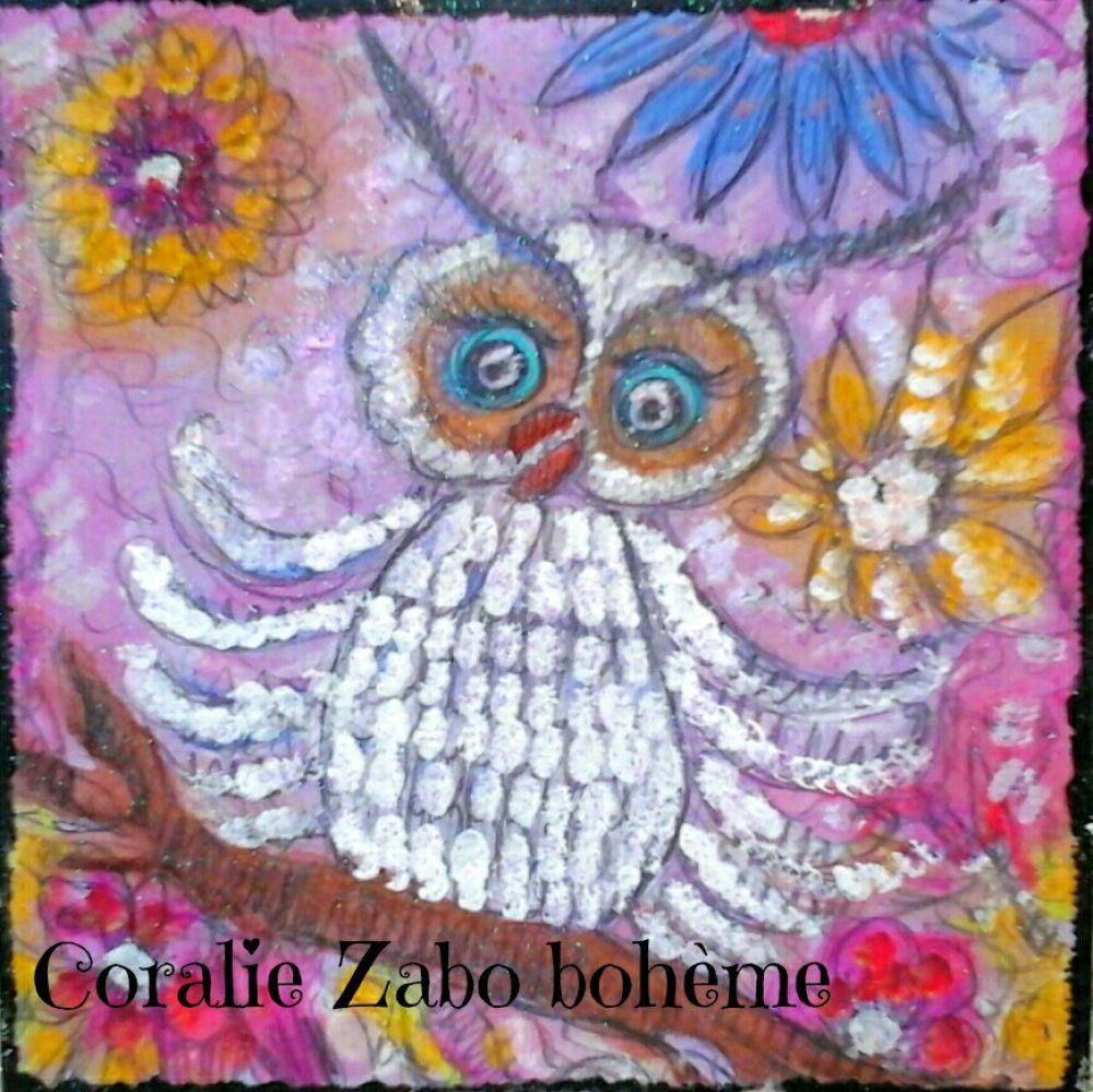Carte Peinte A La Main Carte D Art Aquarelle Peinture Acrylique