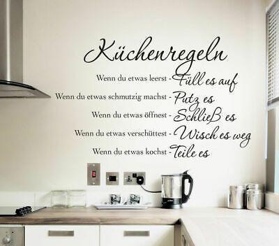 Diese Küche ist selbstreinigend Wandsticker Küche Wandtattoo