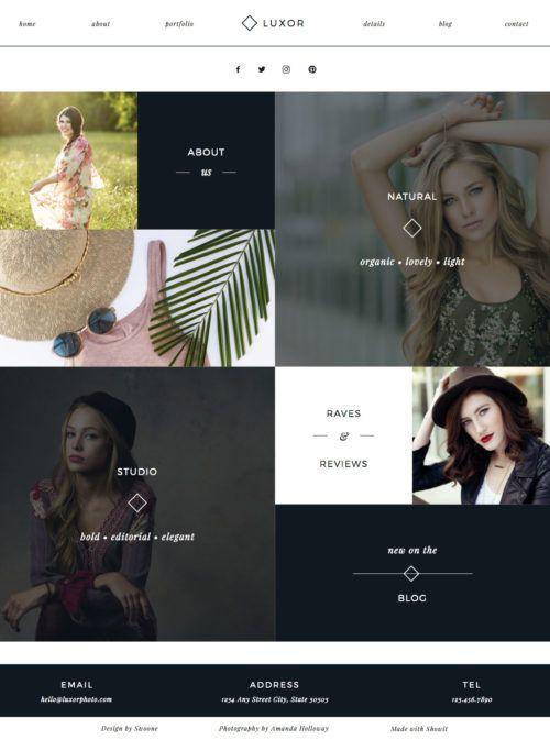 Beautiful Bold Minimalist Photography Website Design For Showit Photography Website Design Photography Website Templates Free Photography Website Templates