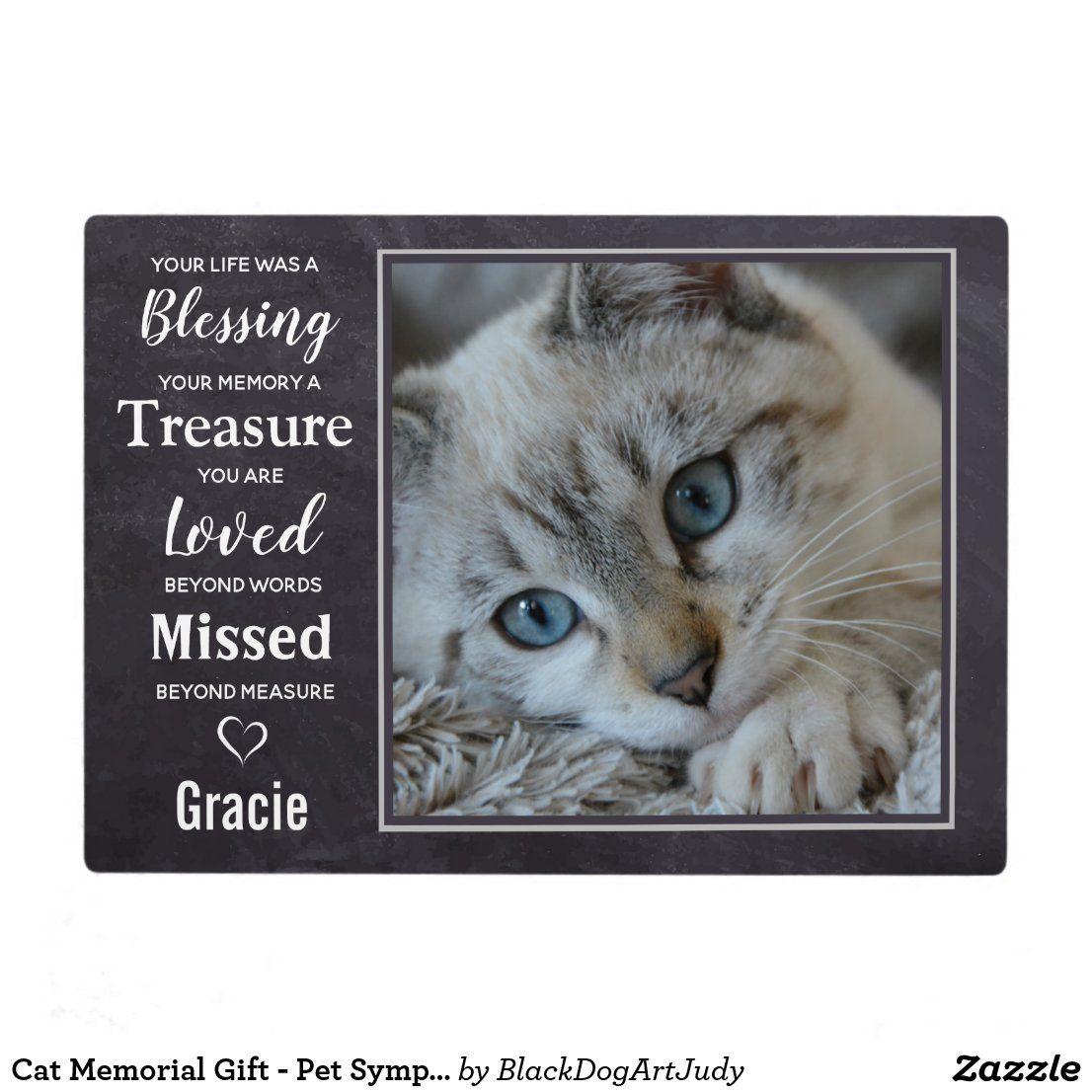 Cat memorial gift pet sympathy gift pet loss plaque in