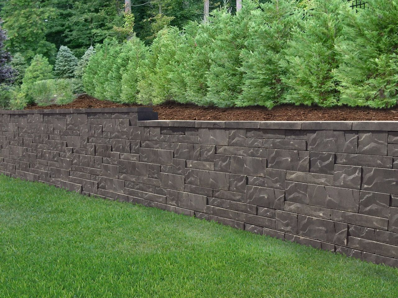 New Allan Block Aztec Retaining Wall Look Retaining Wall Wall