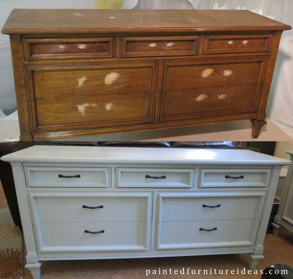 60 s Dresser Before and After. 60 s Dresser Before and After   60 s  Light blue and Dresser