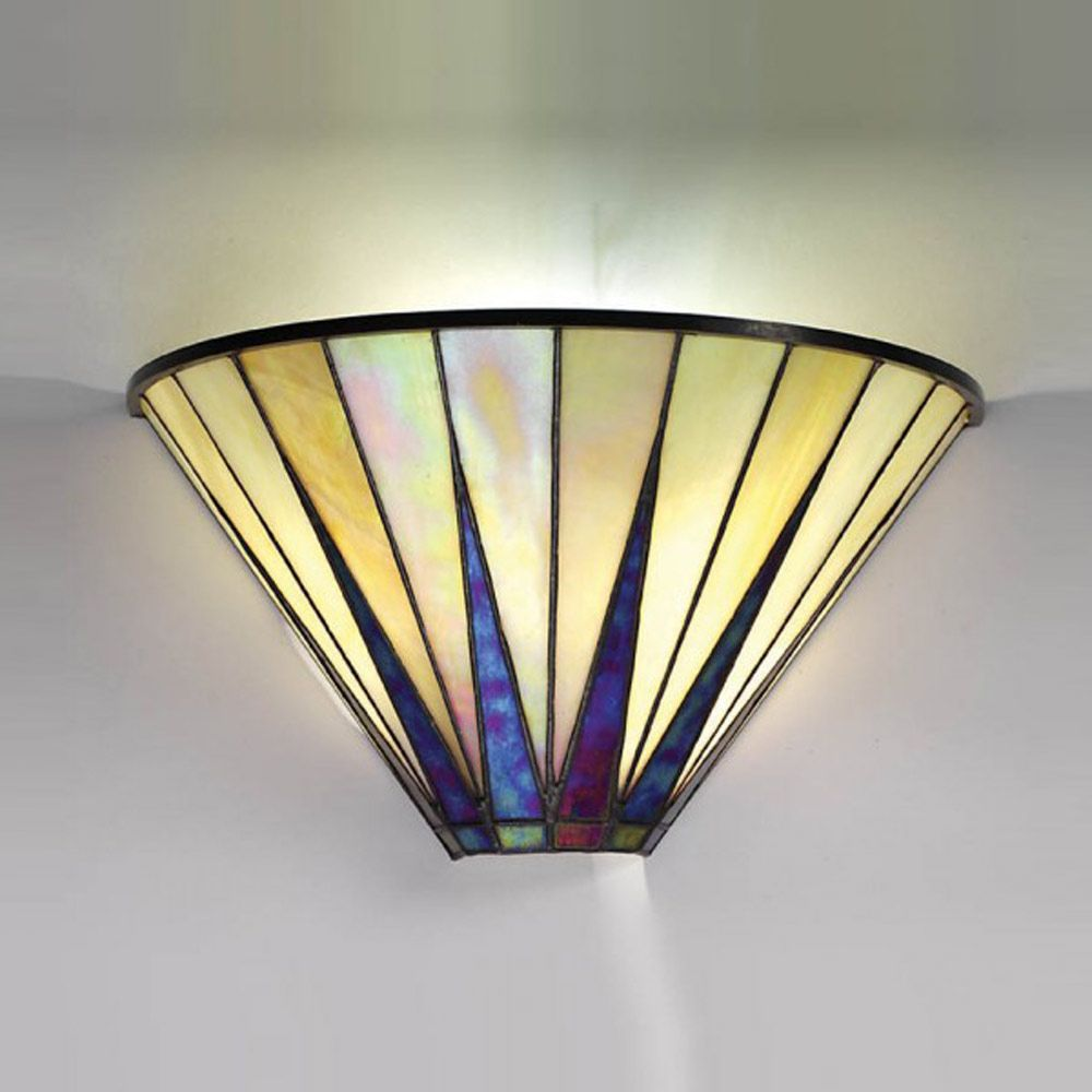 Interiors 1900 64046 Dark Star Wall Light Art Deco Wall Lights Art Deco Lamps Tiffany Art