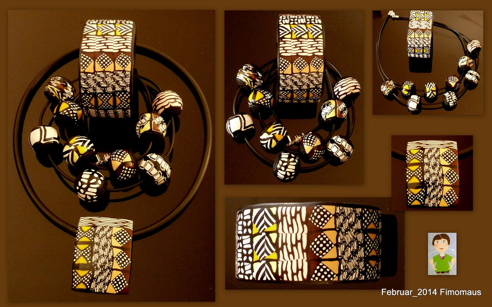 Samstagstreff - Thema Mud Cloth Inspired Necklace with Donna Kato | by Fimomaus