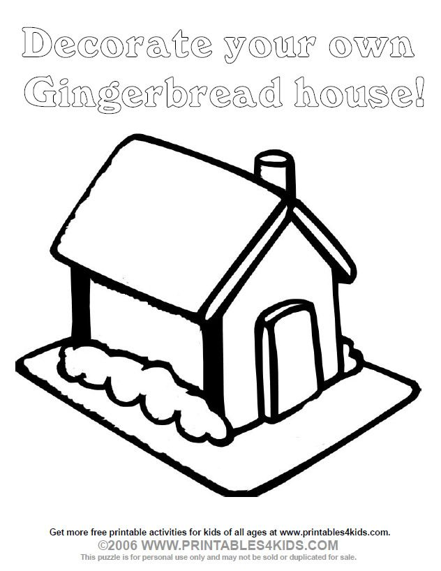 Blank Gingerbread House Coloring Pages Images Pictures Becuo House Colouring Pages Snowflake Coloring Pages Coloring Pages