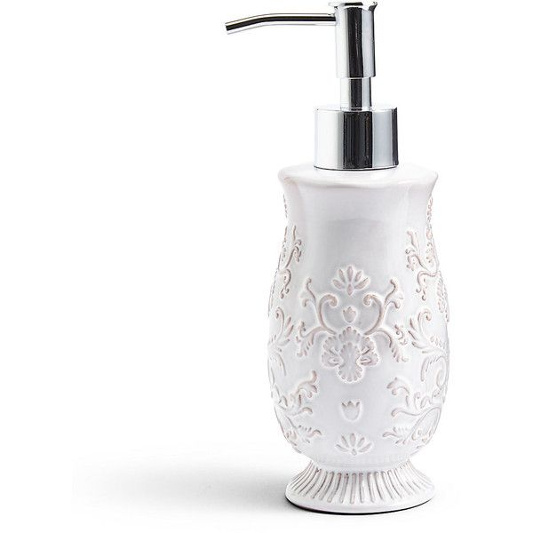 Bath accessories · fiorella embossed soap dispenser ms 52 brl ❤ liked on polyvore featuring