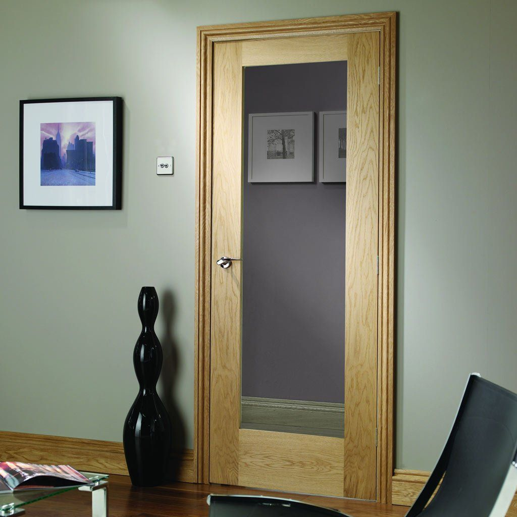Fire Rated Pattern 10 Style Oak Door Clear Glass 1 2 Hour Fire Rated Oak Fire Doors Oak Doors Fire Doors