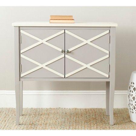 Safavieh Side Table - Grey/White