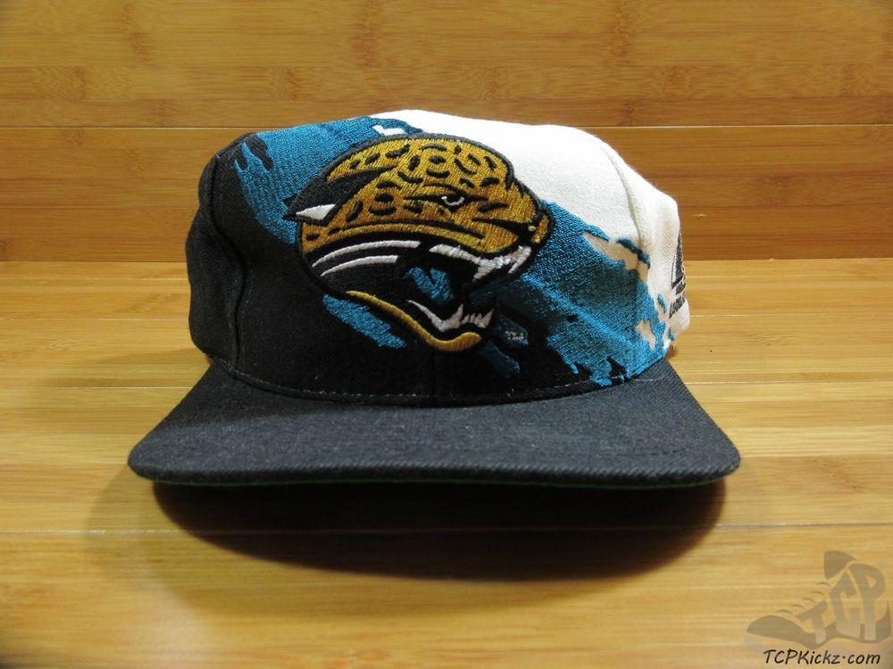 Vtg 90s Logo Athletic Jacksonville Jaguars SNAP Back SPLASH Hat Cap ONE SIZE  NFL  LogoAthletic  JacksonvilleJaguars  tcpkickz e110c16892c1