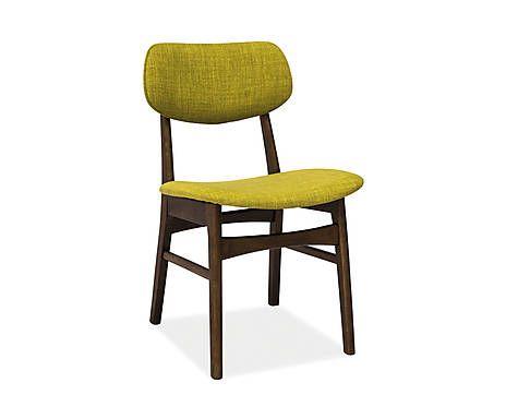 Chaise ritio tissu et hêtre, marron et vert - 50*78