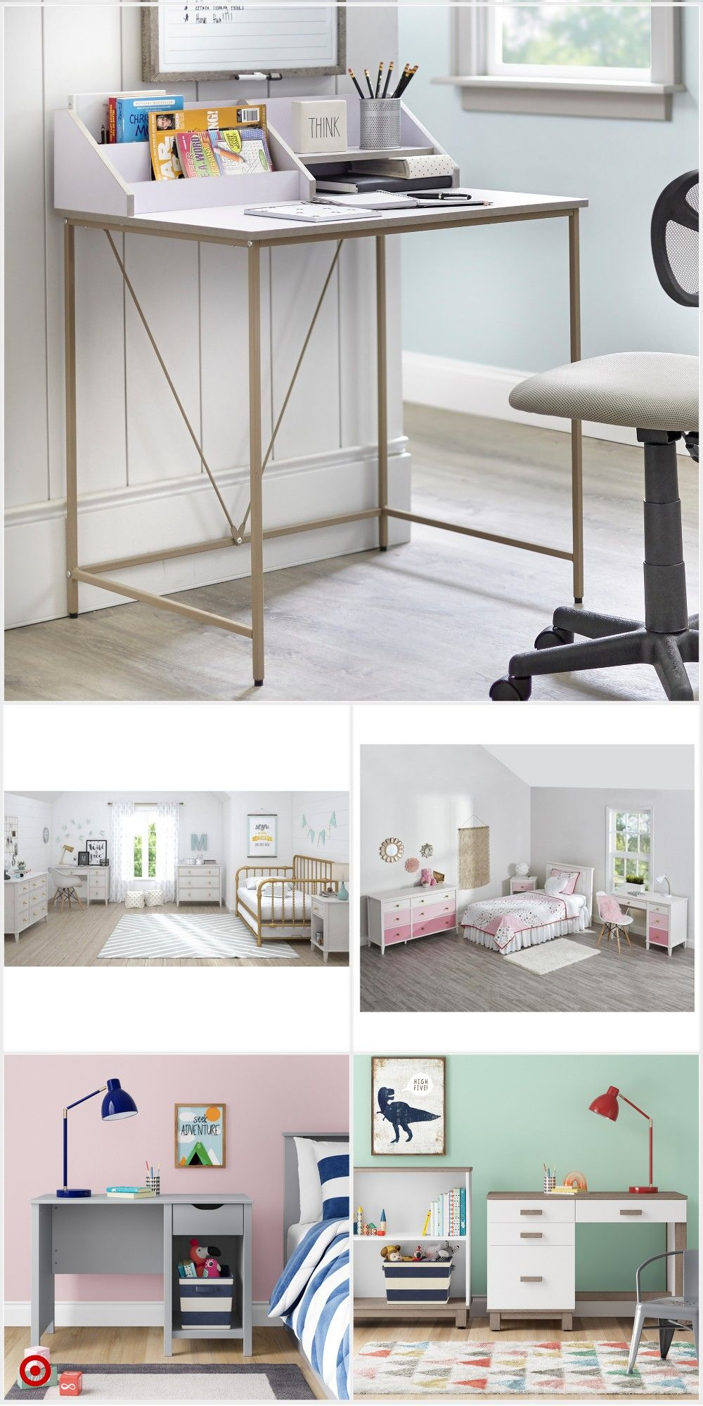 Shop Target For Kids Desks You Will Love At Great Low Prices Free Shipping On Orde Bedroom Decor For Small Rooms Cozy Room Decor Interior Design Bedroom Small