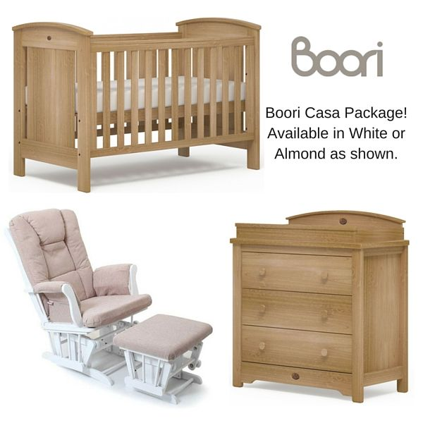 The Boori Casa Nursery Package Includes Cot Innerspring Mattress 3 Draw