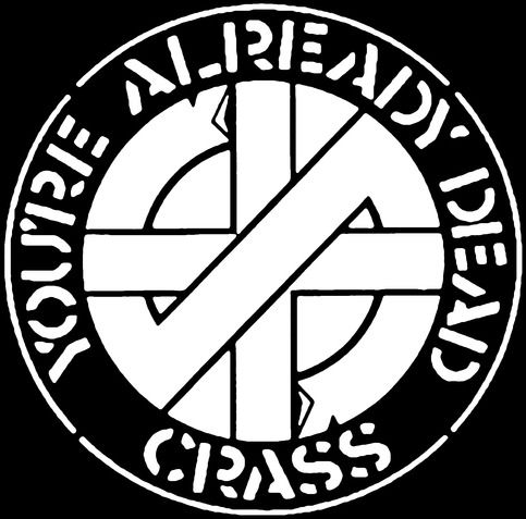 Crass You Re Already Dead Canvas Patch From Discontinued Distro Crass Canvas Material Canvas