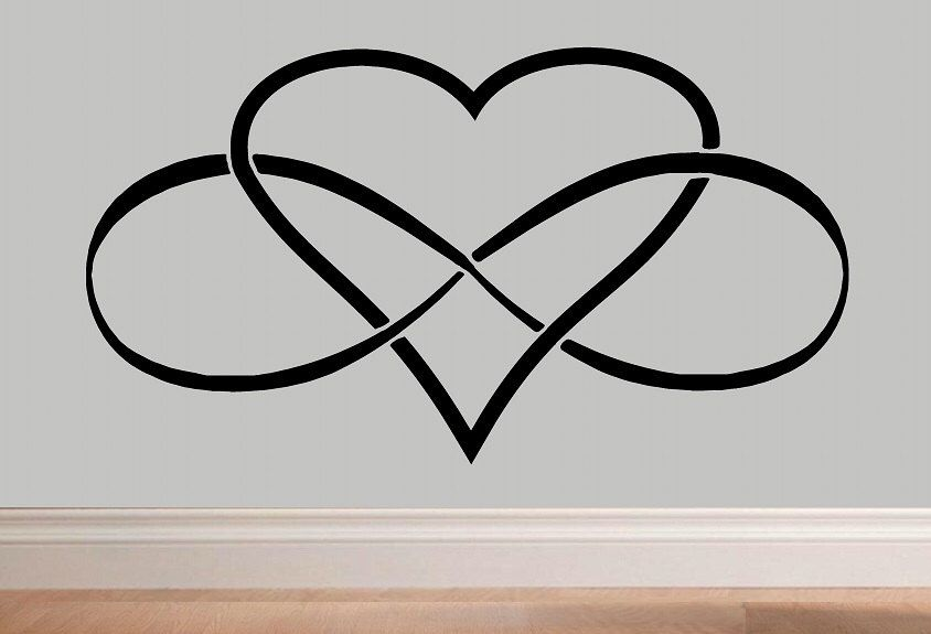 Infinity Heart Symbol Wall Decal Wd Love Bedroom Decor Loop Quote Vinyl Lettering Home By